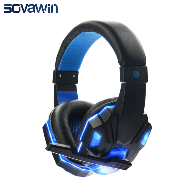 Bass HD Gaming Headset Mic Stereo Sound Gamer Over-ear Headbs