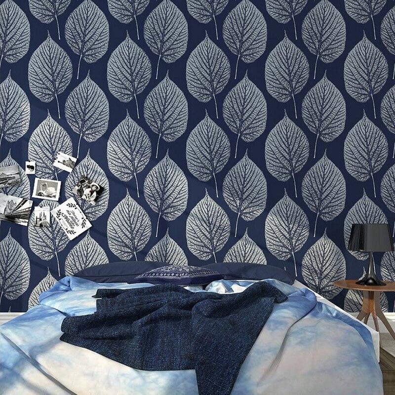 Schwarz Und Weiß Blatt Tapete PVC Vinyl 3D Tapeten Für Schlafzimmer  Wohnzimmer Rustikalen Wallpaper Für Wände, Hintergrund Wandbild Wände In  Schwarz Und ...