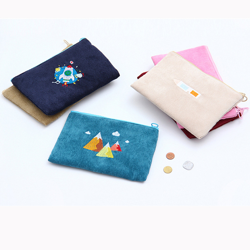 2018 New Cute Cartoon Wallet Female Casual Cellphone Bag Gifts For Women Money Bag Corduroy Zipper Clutch Make Up Bag Coin Purse 2017 purse wallet big capacity female famous brand card holders cellphone pocket gifts for women money bag clutch passport bags