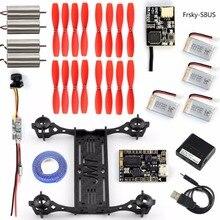 DIY Mini FPV Racer Drone 100 Frame Kit SBUS/PPM Receiver F3+OSD Flight Control VTX+CAMERA TX Brushed Motor Battery F19602-E/F