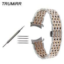Bracelet de montre en acier inoxydable à extrémité incurvée pour Seiko 5 SKX007 Premier bracelet de Presage supérieur argent Rose or 18mm 20mm 22mm