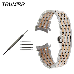 Image 1 - Curved End Stainless Steel Watch Band for Seiko 5 SKX007 Premier Superior Presage Wrist Strap Silver Rose Gold 18mm 20mm 22mm