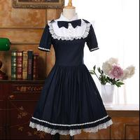 2017 New Fashion Lolita dress Summer Bow tie Lolita Woman dress