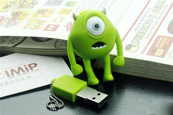 Hot sale Cartoon Cute USB Flash Drive Monsters University Mike/Sully Cyclops USB Flash Drive Flash Memory Drive S24