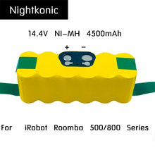 Nightkonic 14.4V NI-MH 4500mAh Rechargeable Battery pack For  iRobot Roomba 500 600 700 800 Series Vacuum Cleaner Yellow / Black