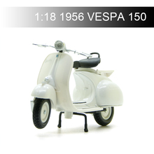 Maisto 1:18  1956 VESPA 150 Piaggio Motorcycle Models model bike Base Diecast Moto Children Toy For Gift Collection