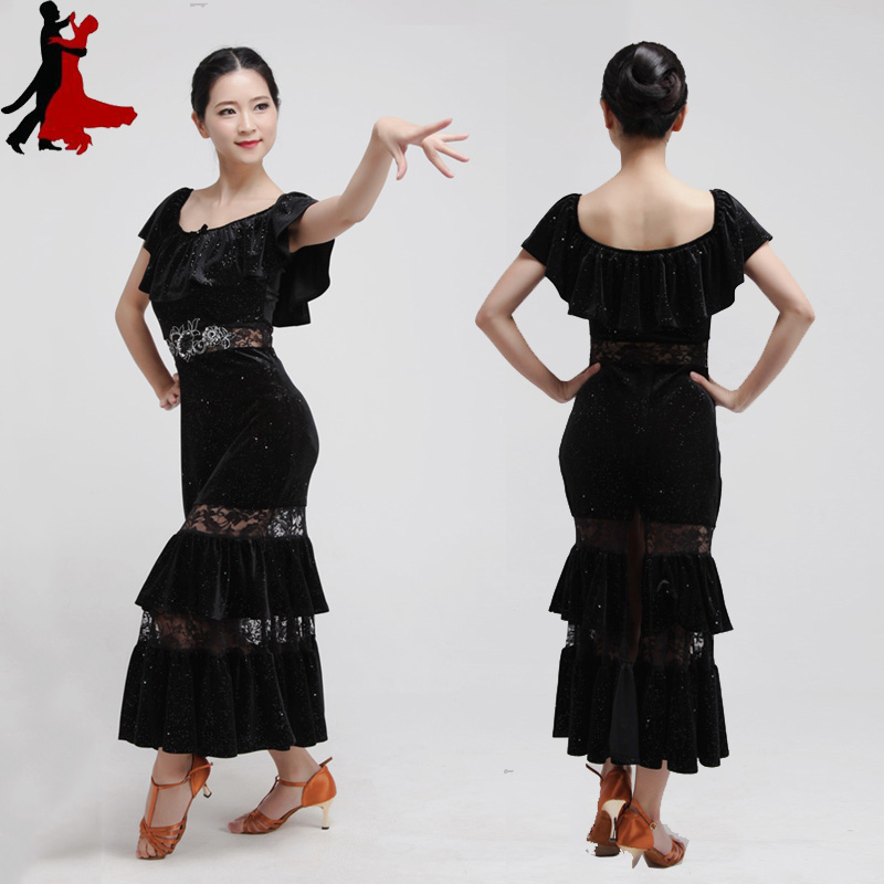 new fashion sexy Latin dance practice dress performance clothing women freeshipping hot sale