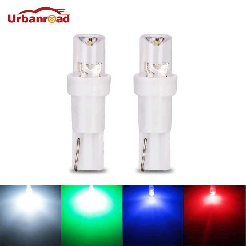 T5 LED Car Dashboard Light Instrument Automobile Door Wedge Gauge Reading Lamp Bulb 12V COB SMD Car Styling White Red