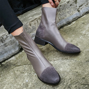 Image 4 - FEDONAS Fashion Women High Heeled Pumps Back Zipper Autumn Winter Warm Short Ankle Boots Female Casual Night Club Shoes Woman