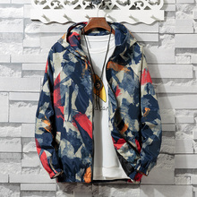 Brieuces Spring Autumn Mens Casual Camouflage Hoodie Jacket Men Waterproof Clothes Windbreaker Coat Male Outwear XS-4XL
