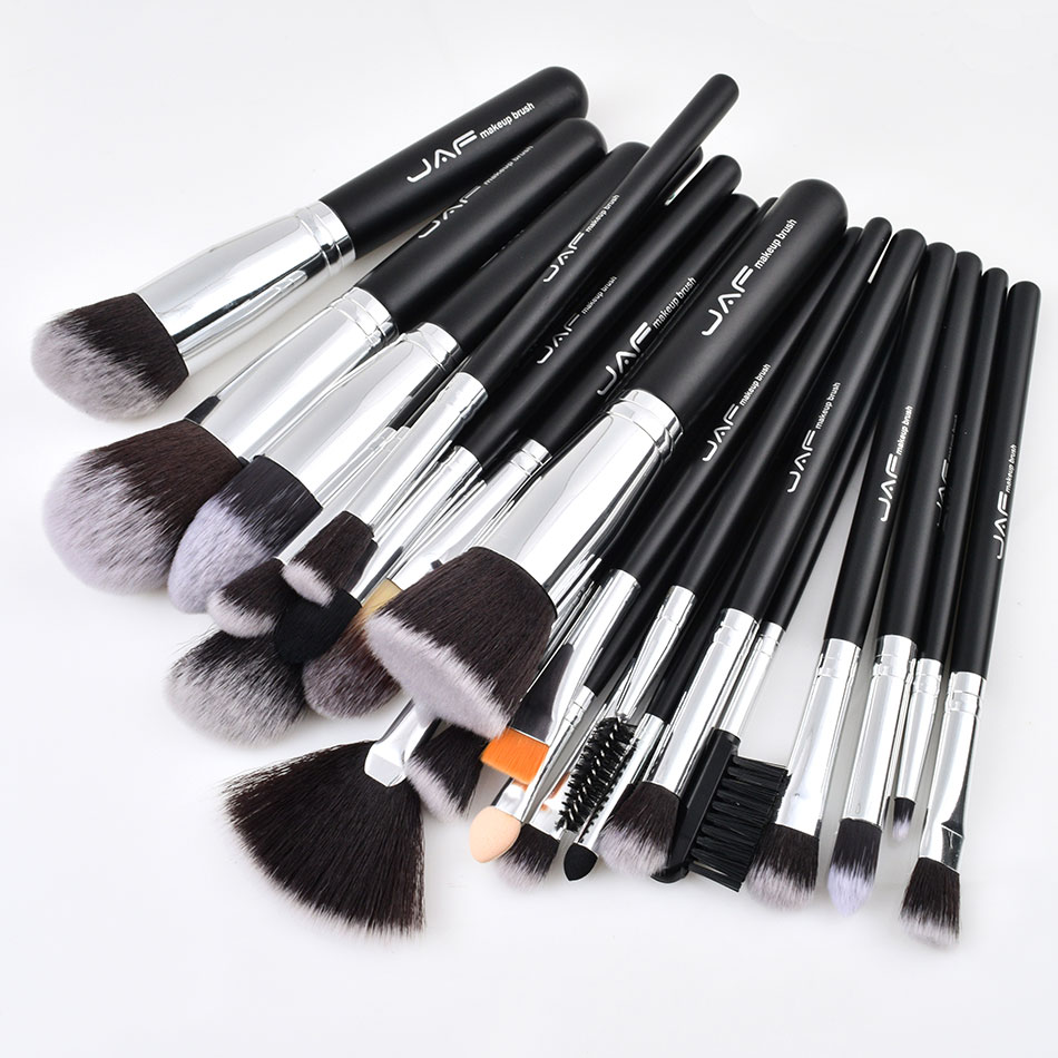 Image 2 - JAF 24pcs Professional Makeup Brushes Set High Quality Make Up Brushes Full Function Studio Synthetic Make up Tool Kit J2404YC B-in Eye Shadow Applicator from Beauty & Health