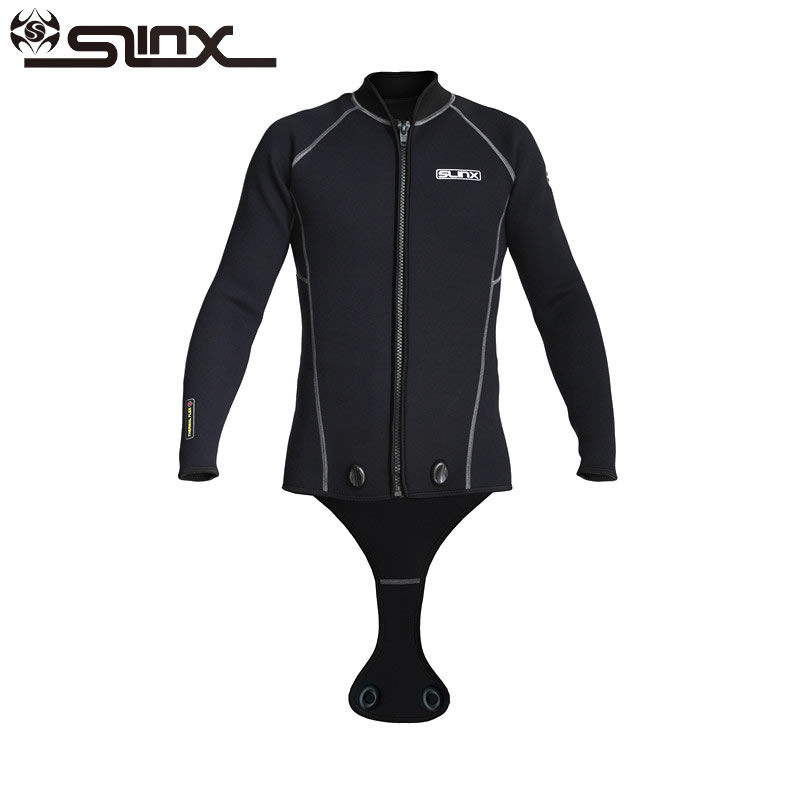 SLINX Men Scuba Diving Wetsuits Jacket 3mm Neoprene Keep Warm Long Sleeve Crotch Jacket for Snorkeling Spearfishing Surfing SuitSLINX Men Scuba Diving Wetsuits Jacket 3mm Neoprene Keep Warm Long Sleeve Crotch Jacket for Snorkeling Spearfishing Surfing Suit