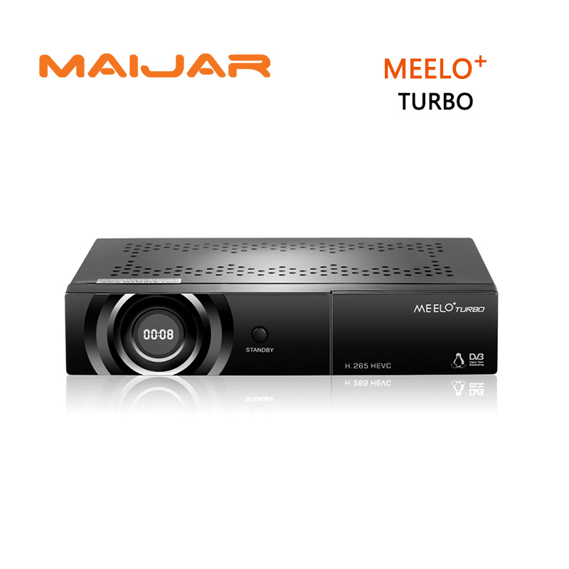 MEELO TURBO DVB-S2/C/T2 Linux Digital Satellite Receiver 7 Segment - 4 Digits Display AVS+ Cccam NewCam IPTV PVR H.265 CAS meelo turbo dvb s2 c t2 linux iptv satellite receiver 7 segment 4 digits display processor 256mb flash 512mb ddr vs meelo one