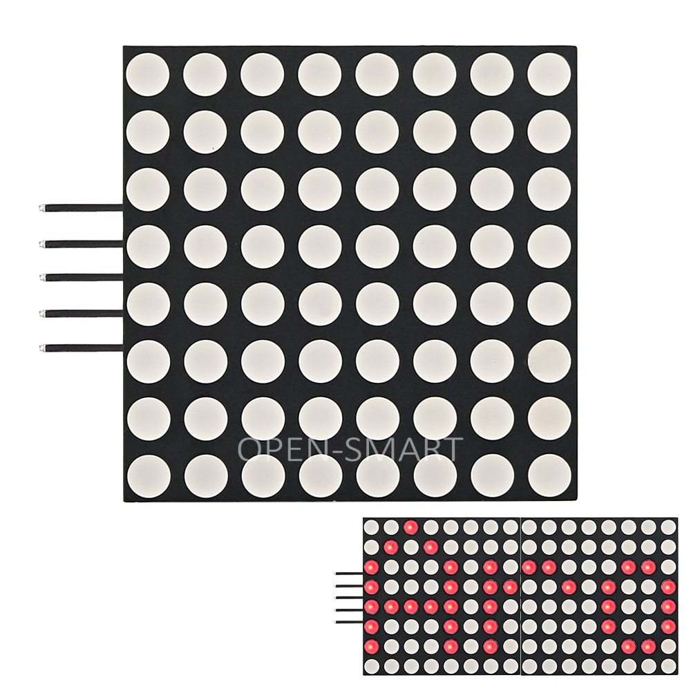1.8inch Dot Matrix LED 1.8 8X8 Cascadable Red LED Dot Matrix Display Module with SPI interface for Arduino