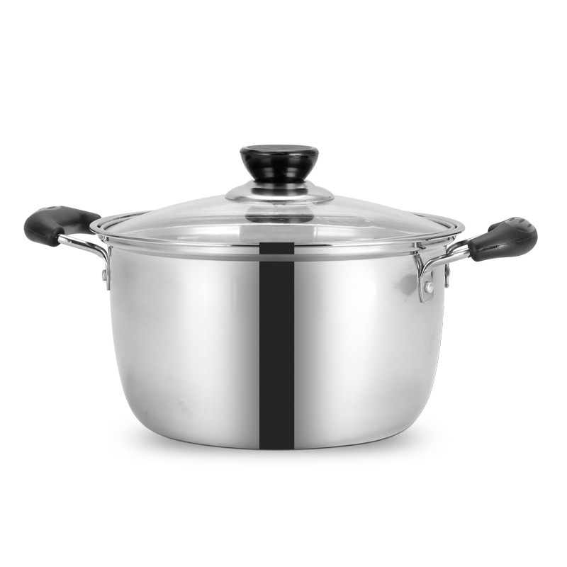 Cookware Stainless Steel Pot 1.5L-4L Double Bottom Soup Pot Nonmagnetic Cooking Multi-purpose Cookware Non-stick Pan General UseCookware Stainless Steel Pot 1.5L-4L Double Bottom Soup Pot Nonmagnetic Cooking Multi-purpose Cookware Non-stick Pan General Use
