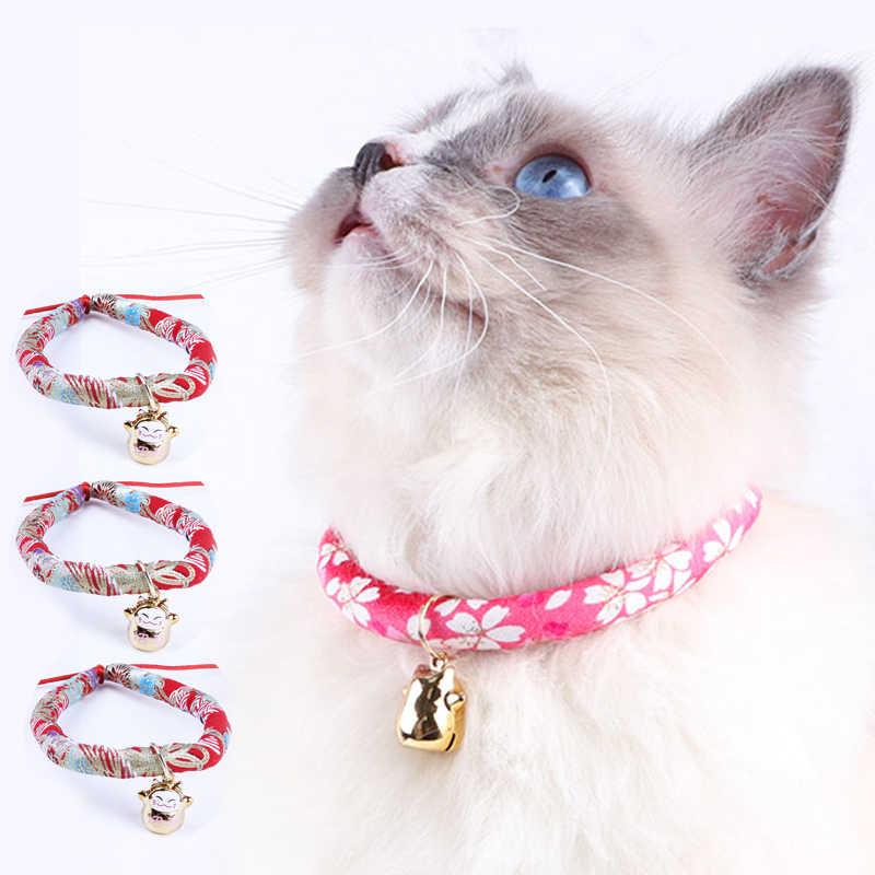 Pet Supplies. Pet Collar Japanese kimono pattern Cat Neckwear Cat Supplies Pet accessory Cat Collar