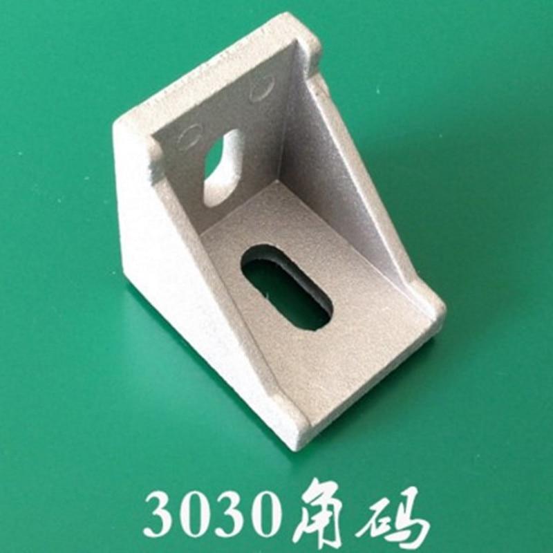 20pcs 3030 Corner Angle Bracket Joint Aluminum Profile Extrusion CNC DIY