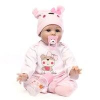 NPK Newborn Reborn Baby Dolls Silicone Cute Soft Babies Doll For Girls Princess Kid Fashion Bebe Reborn Dolls 55cm 40cm