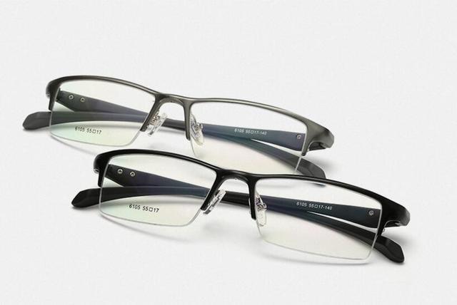 Dos homens de Negócios de Luxo Óculos De Alumínio Em Liga de Magnésio Óculos de Miopia Óculos de Armação de Óculos Armação de Metal Óculos