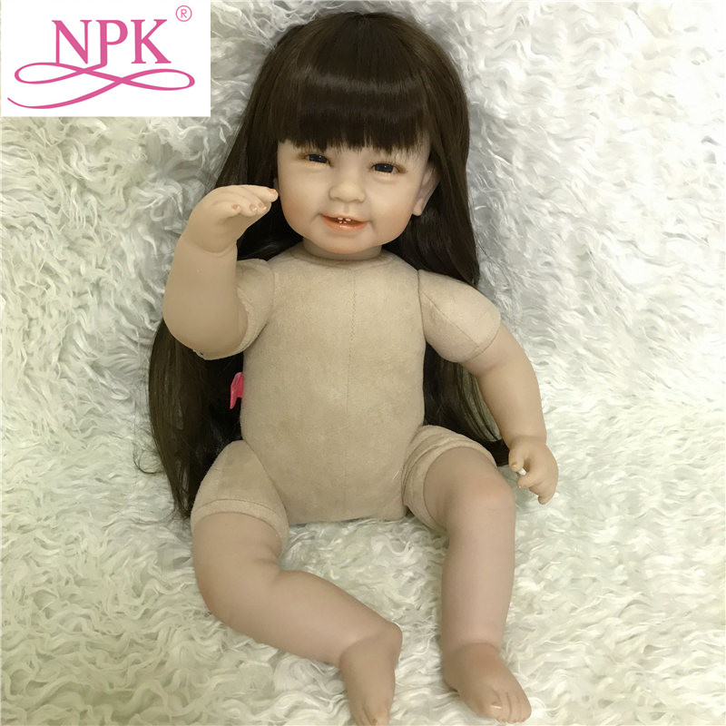 NPK 55cm 22inch DIY Reborn Naked Doll With Soft pp Cotton Body Creatived Reborn Baby Doll