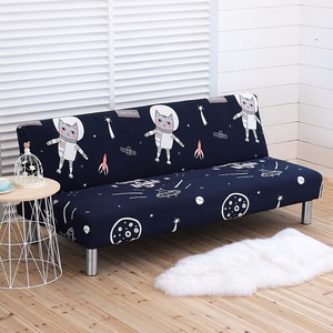 Image 5 - Printed Elastic Sofa Cover All inclusive Tight Wrap Slipcover Couch Couch Sofa Towel Without Armrest Folding Sofa Bed