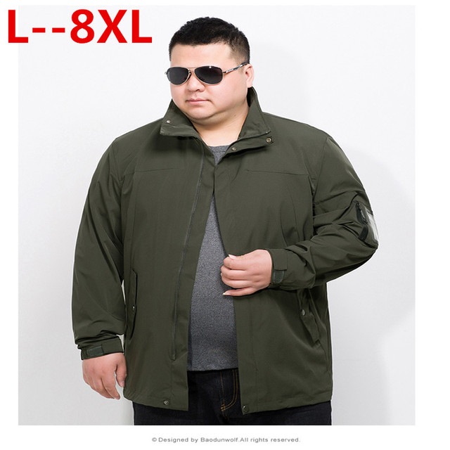 bdd267c7076 Plus 10XL 8XL 6XL 5XL Male Jacket Coat Men 2018 Spring Business Casual  Clothes Summer Thin Windbreaker Mens Black Bomber Jackets