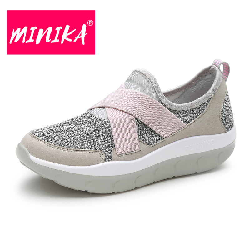 MINIKA Size 35-44 Summer Breathable Women Casual Shoes New Fashion Women Platform Balance Flat Shoes Light Weight Casual Shoes women creepers shoes 2015 summer breathable white gauze hollow platform shoes women fashion sandals x525 50