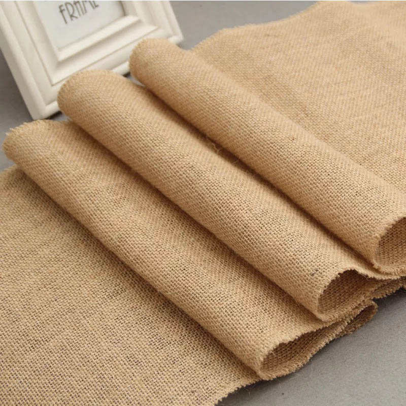 BALLE Vintage Jute Table Runner Burlap Rustic Shabby Hessian Table Runner For Wedding Festival Party Event Decorations