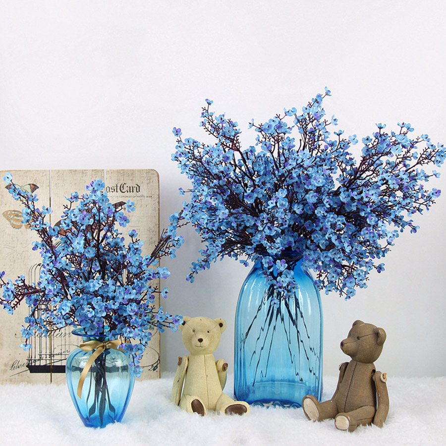 Cherry Blossoms Artificial Flowers For DIY Wedding Decoration And Home Bouquet 4