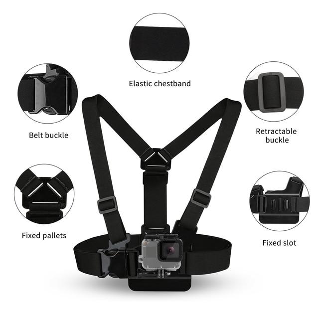 SHOOT Adjustable Harness Chest Strap Head Strap Belt for GoPro Hero 8 7 6 5 Black Xiaomi Yi 4K Sjcam Sj4000 Go Pro 7 8 Accessory 1