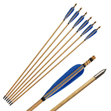 6/12/pcs 31.5inch 8mm Archery Wood Arrows Turkey Feathers Handmade Wooden Arrow for Recurve Bow Traditional Longbow Hunting
