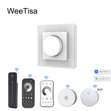 AC Triac Dimmer 220V 110V 230V Wireless RF 2.4G Remote Smart Wifi Controller Dimmable Knob Light Switch LED Triac Dimmer ST1 swilet 86 type controllable dimmer switch 110v 220v with 12 keys remote control white led dimmer knob switch with mounting box