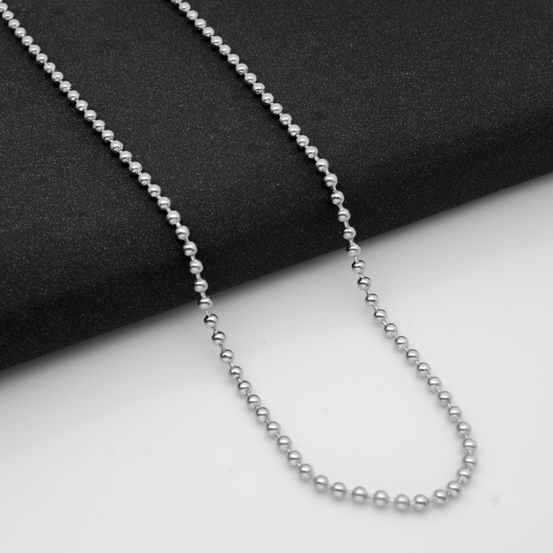 18 Inches Wholesale Lot of 10 Silver Tone Ball Chain Necklaces