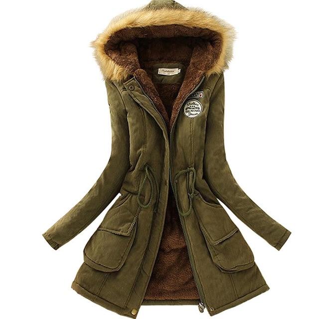 2017 Nuevo Parkas mujer mujeres invierno abrigo