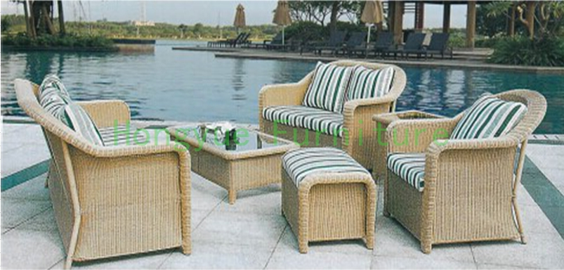 New PE wicker garden sofa furniture set with cushions,outdoor sofa furniture
