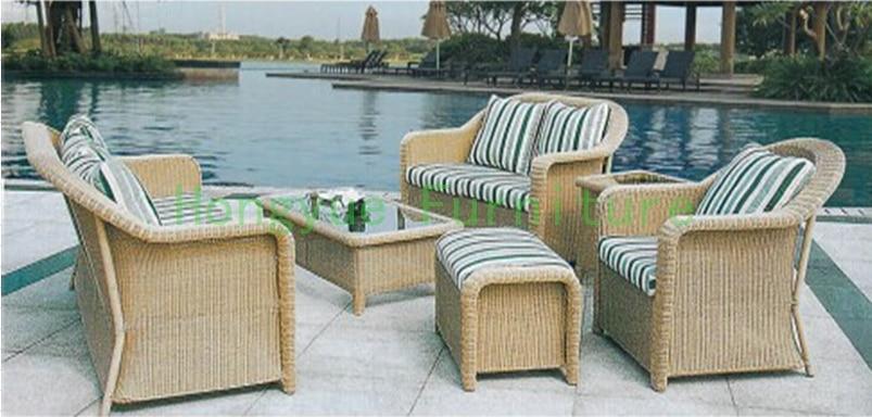 Nueva pe de mimbre jard n muebles sof conjunto con cojines sof muebles de exterior en juegos - Cojines para muebles de jardin ...