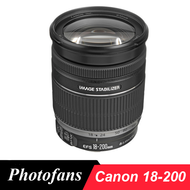 Canon 18-200 EST Lentille EF-S 18-200mm f/3.5-5.6 EST Verres pour 600D 650D 700D 750D 760D 60D 70D 80D 7D Rebelles T3i T4i T5i