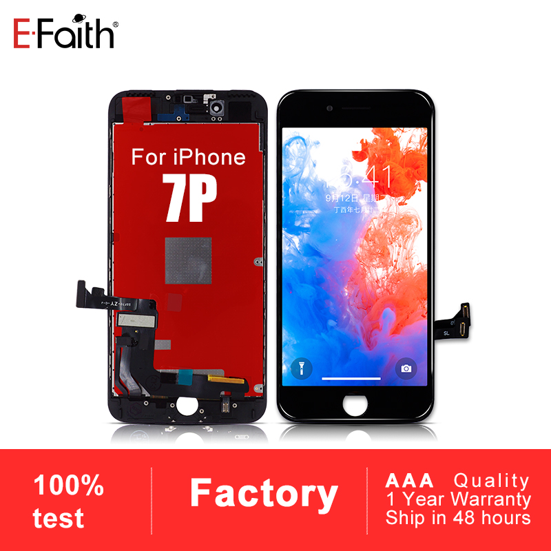 50 PCS No Dead Pixel LCD or Display For iPhone 7 Plus 7P Replacement Touch Screen