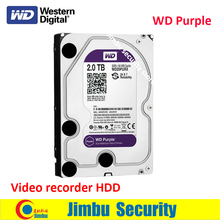 WD20PURX WD Purple 2TB HDD for NVR DVR XVR Hard disc SATA 6 Gb/s1 3.5″ Surveillance Internal Hard Drive apply for video recorder