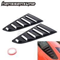 1 Pair OE Style Side Black Window Louvers Left & Right Side Fits For Mustang 2015 2018