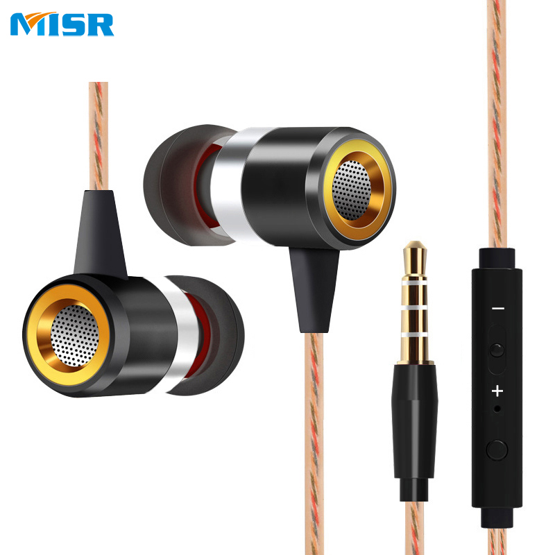 MISR A8 Earphone For Phone Wired In-Ear Headset with Mic Microphone Volume Control Stereo Bass Metal Plastic Earbuds 3.5mm Jack mifo r1 super bass wired earphone stereo music in ear earbuds 3 5mm microphone headset with mic for sport running earpiece xiomi