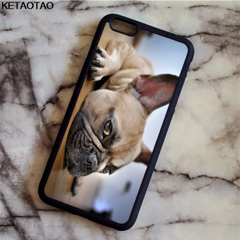 KETAOTAO Puppy Pug French Bulldog Dog Phone Cases for iPhone 4S 5C 5S 6 6S 7 8 Plus X for Samsung Case Soft TPU Rubber Silicone
