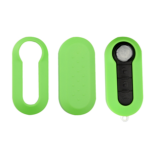 Image 5 - OkeyTech Colorful Remote Car Key Shell Cover Replacement Protective Case for Fiat 500 Panda Punto Bravo Flip Folding 3 Buttons