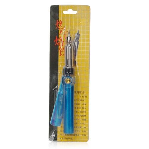New Blue Cordless Refillable Butane Gas Soldering Iron Pen shape Tool Kit