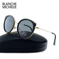 2017 High Quality Cat Eye Polarized Sunglasses Women Brand Designer UV400 Sun Glasses For Driving Mirror