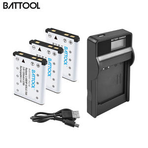 Battool Lcd-Charger Fujifilm Li40b-Battery NP45A NP-45S for Finepix/Z30/Z10fd/..