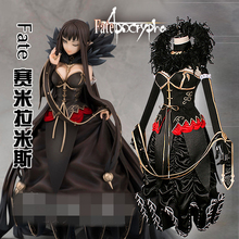 2017 Fate Apocrypha Semiramis Dress Poison Killer Double Summon Cosplay Costume Women  D