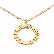 Fashion Jewelry High Quality Name Necklace Custom Circle Heart with Necklaces For Women