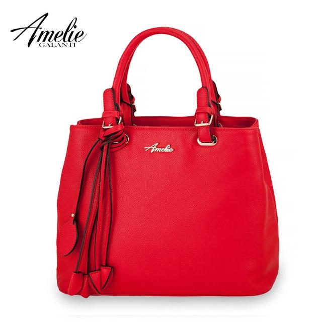 AMELIE GALANTI new fashion women bag lady tassel solid handbag shoulder bag package soft totes