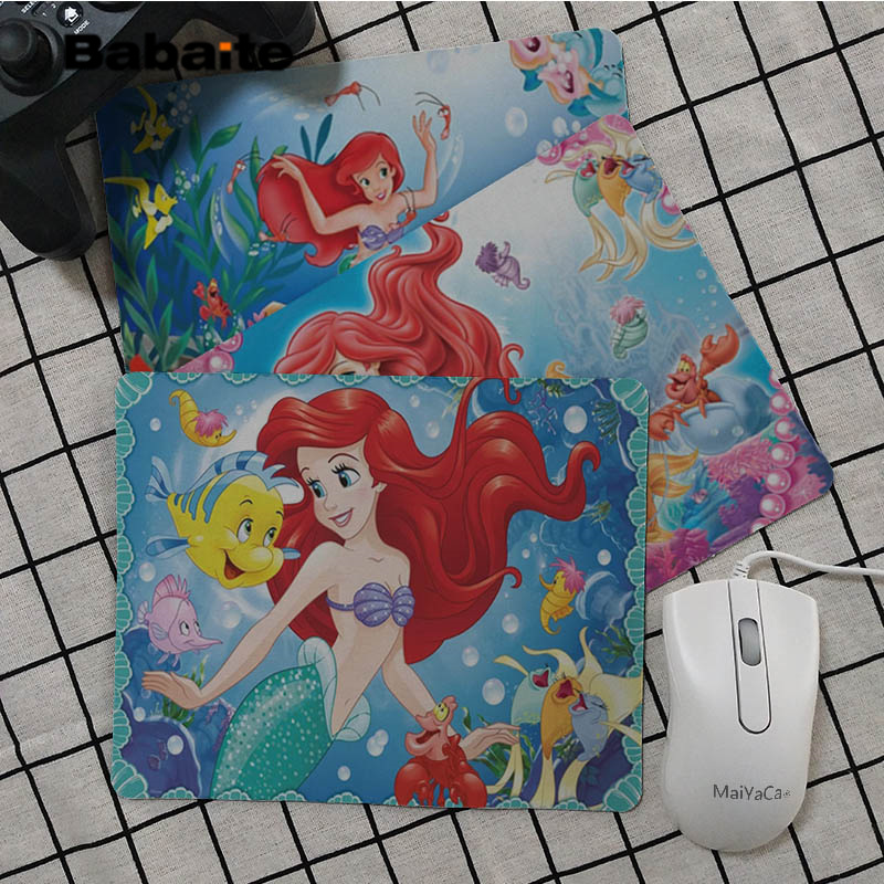 Babaite Top Quality Little Mermaid Ariels  Office Mice Gamer Soft Mouse Pad Selling Wholesale Gaming mouse